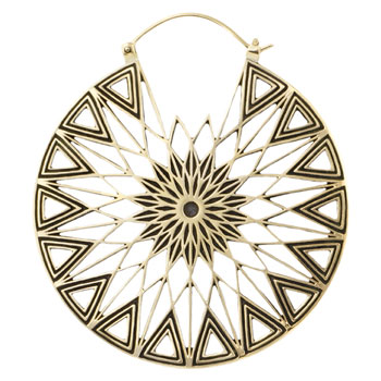 Brass Polaris Hoops