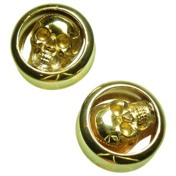 Brass Skull Plugs