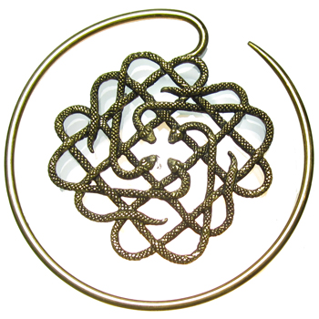 Brass Four Snake Hoops