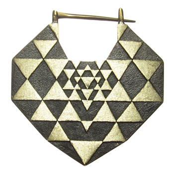 Brass with Titanium Sri Yantra