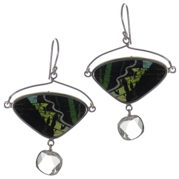 Butterfly Wing Silver Earrings #12