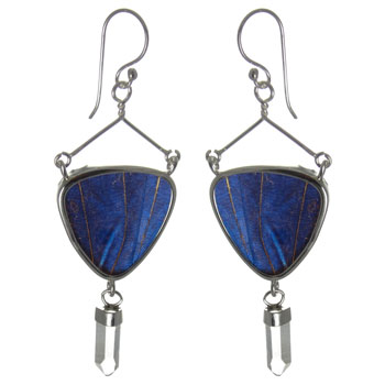 Butterfly Wing Silver Earrings #13