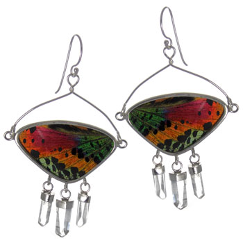 Butterfly Wing Silver Earrings #4