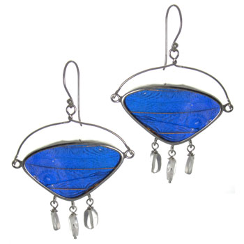 Butterfly Wing Silver Earrings #5