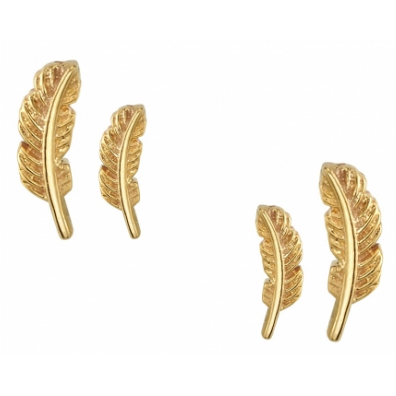 Gold Feather Nostril Screw