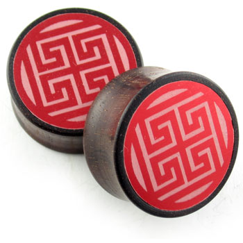 Catalox Plugs with White Swastika Metal Inlays