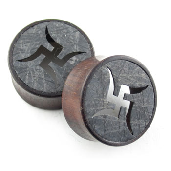 Catalox Plugs with Silver Gibeon Swastika Inlays