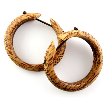 Coconut Wood Hoop Stirrups