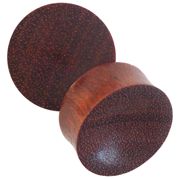 Bloodwood Concave Plugs
