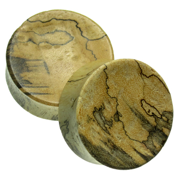 Crocodile Wood Concave Plugs