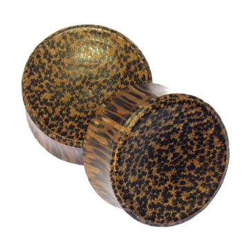 Concave Palm Wood Plugs
