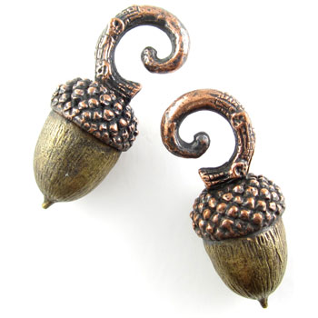 Copper Acorn Weights