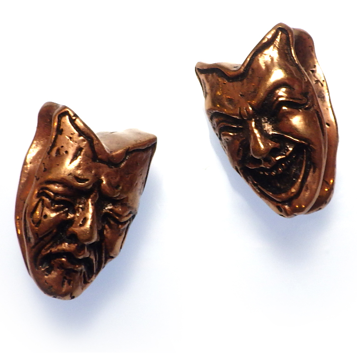 Copper Comedy Tragedy Weights