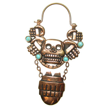 Copper Olmec with Turquoise