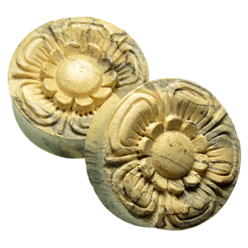 Crocodile Wood Daisy Plugs