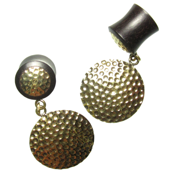 Ebony and Brass Hammered Plugs