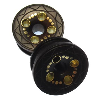 Ebony and Brass Cenote Eylets
