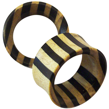 Crocodile Wood and Ebony Striped Eyelets