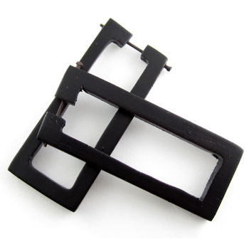 Ebony Rectangle Stirrups