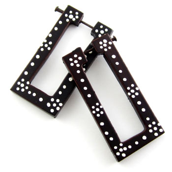 Ebony Rectangle and Dot Stirrups