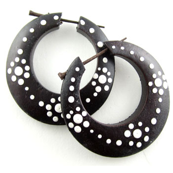 Ebony Dot Hoop Stirrups