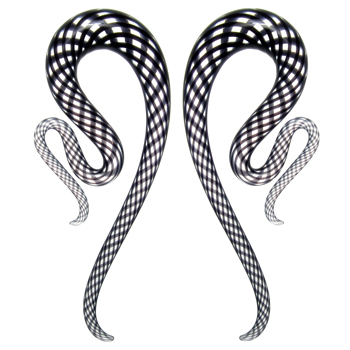 Glass Fishnet River Snakes