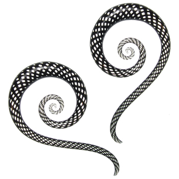 Glass Fishnet Spiral Snakes