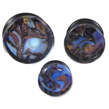 Glass Boulder Opal Plugs