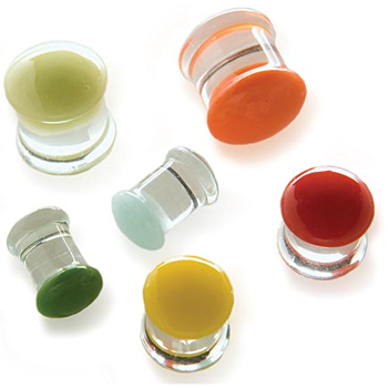 Glass Color Front Plugs
