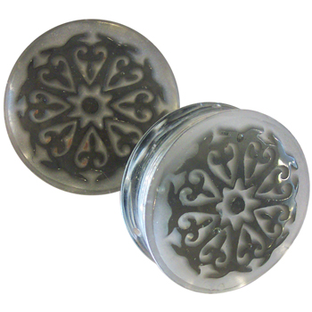 Glass Dayak Burst Plugs