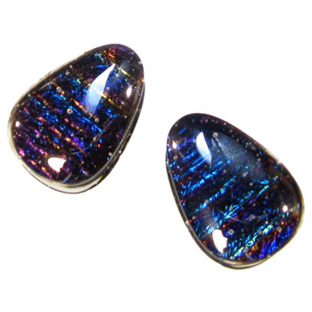 Glass Deluxe Dichroic Teardrops