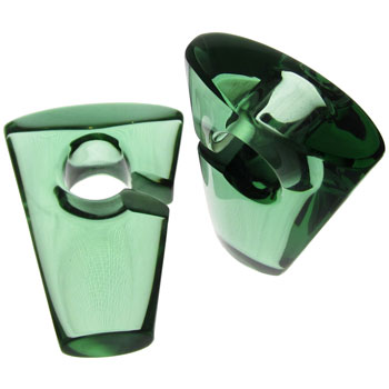 Glass Emerald Rhomb Weights