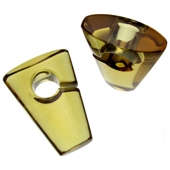 Glass Honey Rhomb Weights