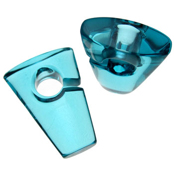 Glass Ocean Blue Rhomb Weights