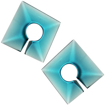 Glass Square Weights - Ocean