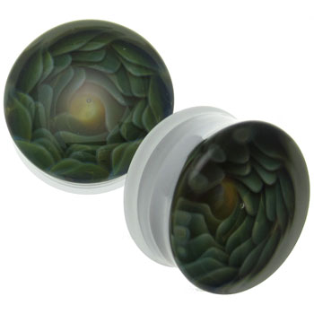 Glass White Vortex Plugs