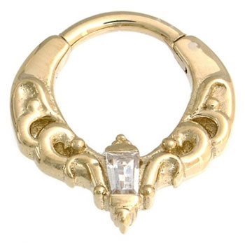 Gold Emily Septum Clicker