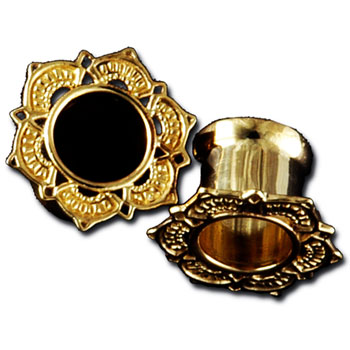 Gold Lotus Drop Eyelets