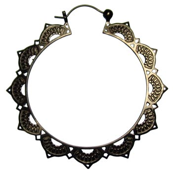 Gunmetal Lotus Hoops