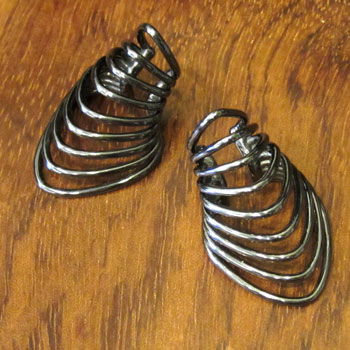 Gunmetal Warrior Ear Cuff