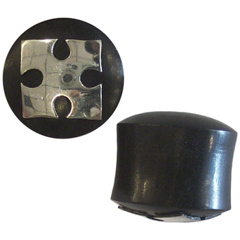 Black Horn and Silver Iron Cross Plugs