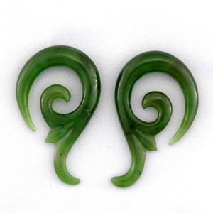Green Nephrite Jade Lily