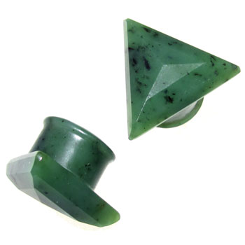 Green Nephrite Jade Vortex Plugs