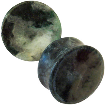 Concave Natural Jade Plugs
