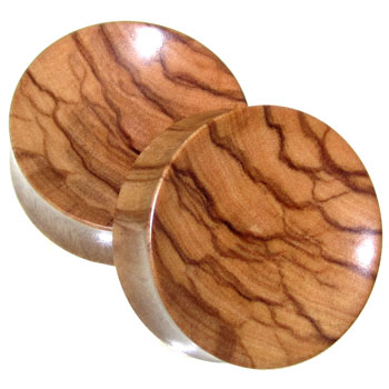 Olivewood Concave Plugs