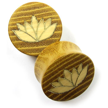 Osage Orange Plugs with Ash Lotus Inlays