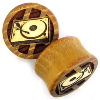 Osage Orange Plugs with Turntable Inlays