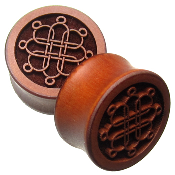 Pear Wood Eight Point Plugs