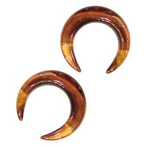 Red Tiger Eye Crescents