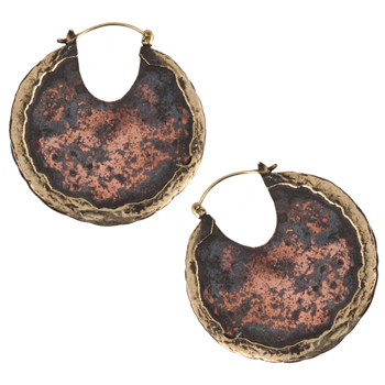 Brass and Copper Road Warrior Hoops